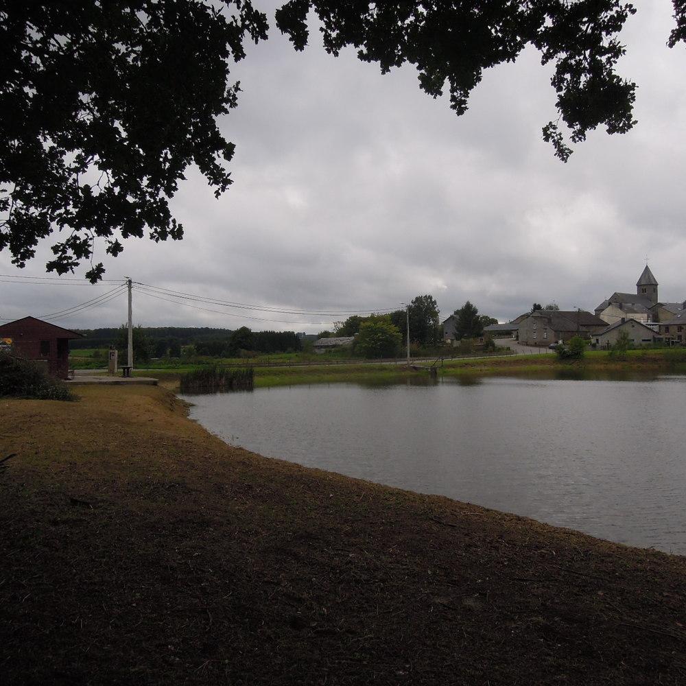 Terrein met bouwgrond en 2 visvijvers en chalet te koop